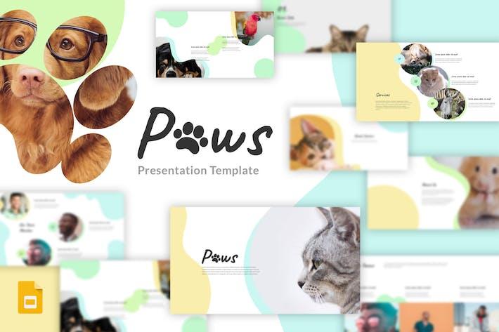 Thumbnail for Paws - Animal, Pet Google Slides Template
