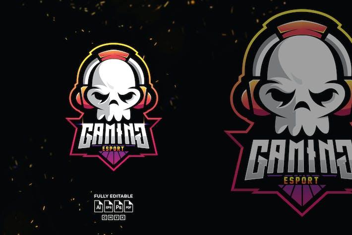 Thumbnail for Skull Gaming Logo Template