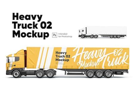 Heavy Truck 02 Mockup