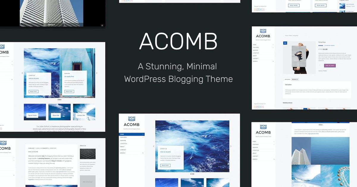 Acomb - Responsive Blogging WordPress Theme by tommusrhodus