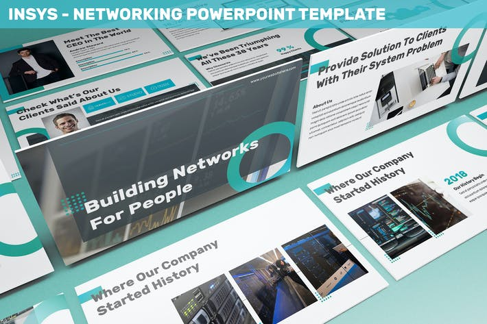 Insys - Networking Powerpoint Template