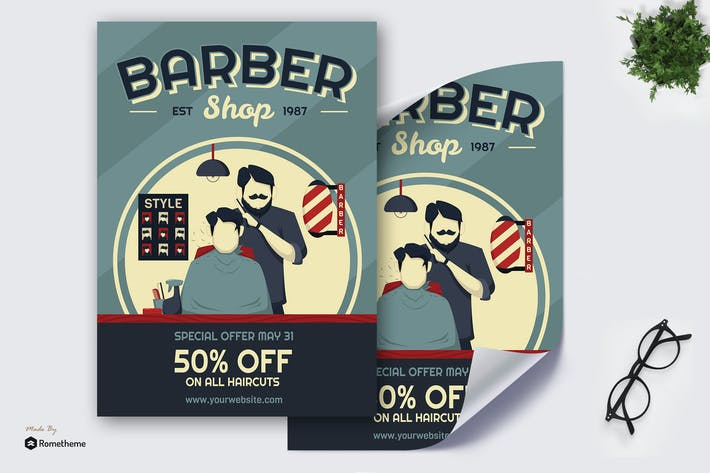 Thumbnail for Barber Shop - Creative Poster GR