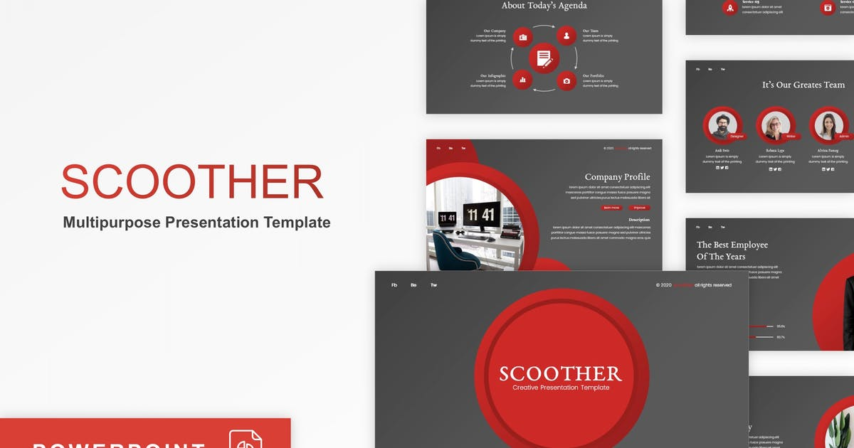 Download Scoother - Multipurpose PowerPoint Template by CocoTemplates