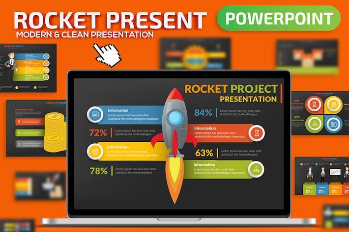 Шаблон презентации ракеты Powerpoint