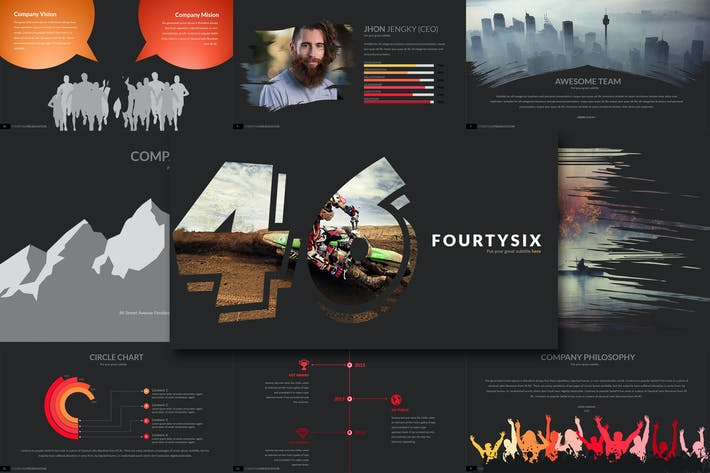 Cover Image For Fourty Six - Powerpoint Template