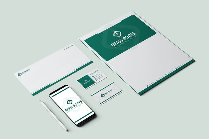 Thumbnail for Glass Roots Brand Identity & Stationery Pack