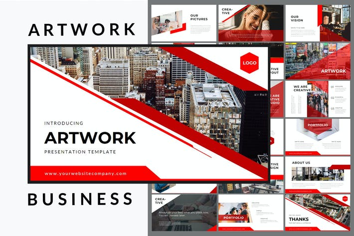 Thumbnail for Artwork Business - Powerpoint Template
