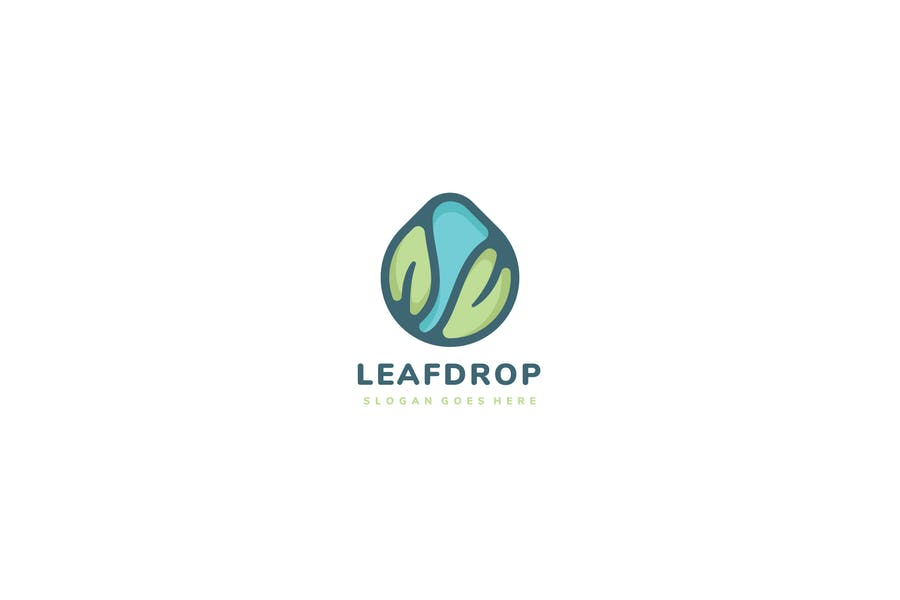 Logo Leaves Drop
