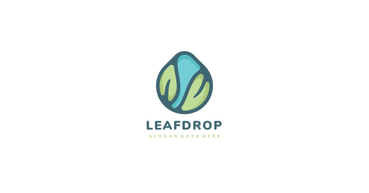 Download Leaves Drop Logo by 3ab2ou