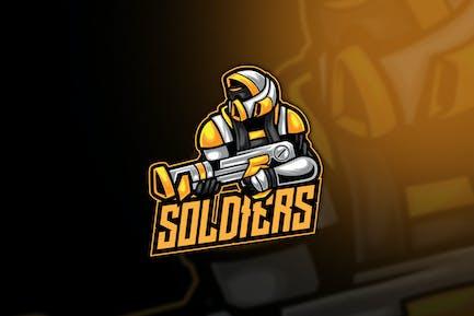 Soldier Robot Warrior Esport Logo