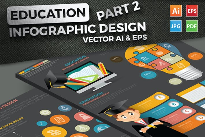 Thumbnail for Education Infographics Design Part 2