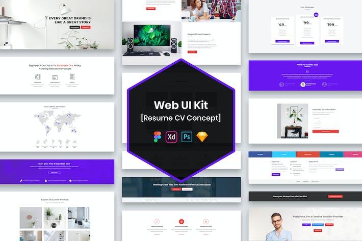 Thumbnail for CV Resume Web UI Kit