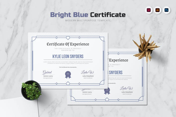 Thumbnail for Bright Blue Certificate