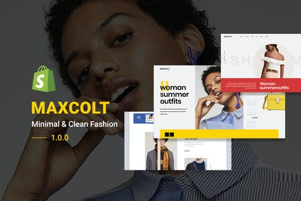 MAXCOLT | Minimalista & Limpio Moda Shopify Tema