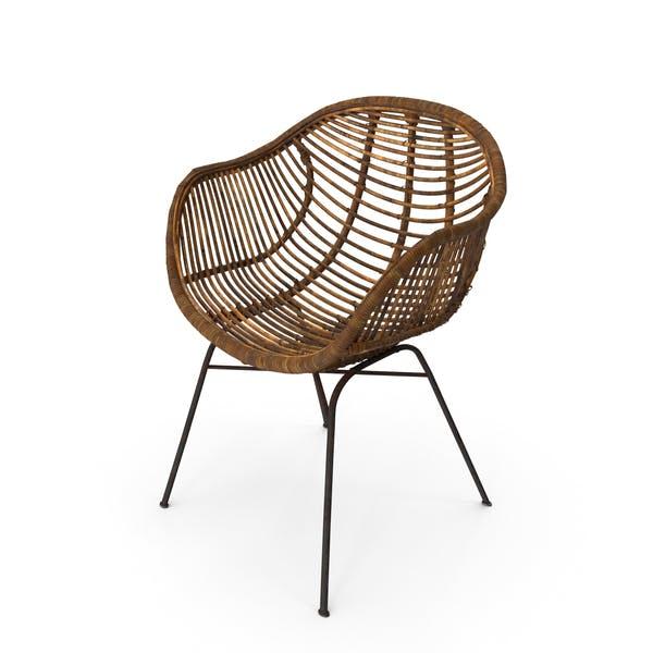 Плетеный стул изношен