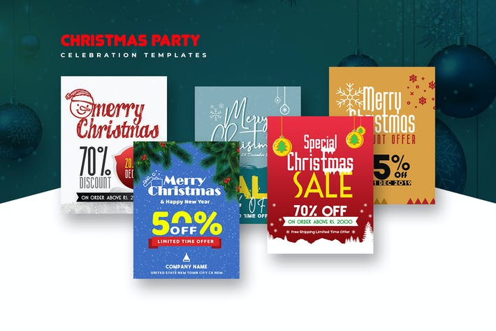 Thumbnail for Christmas Party Celebration Templates