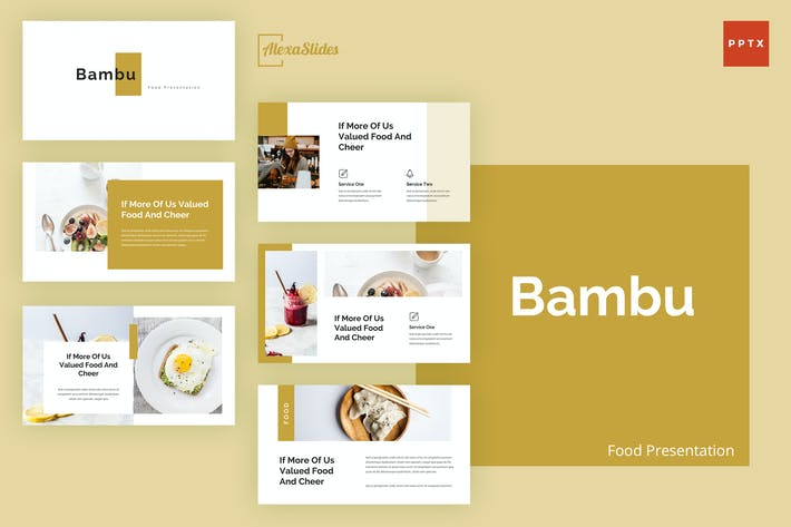 Thumbnail for Bambu - Food Powerpoint Presentation Template