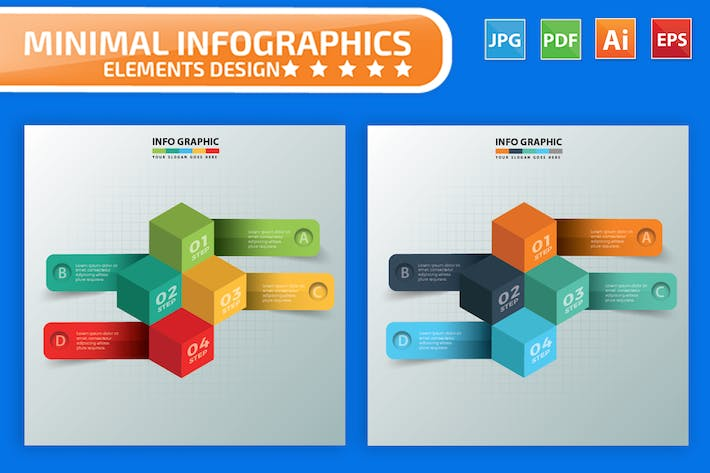 Thumbnail for Cube Infographics Design
