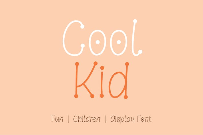 Thumbnail for Cool Kid - Fun | Children | Display Font