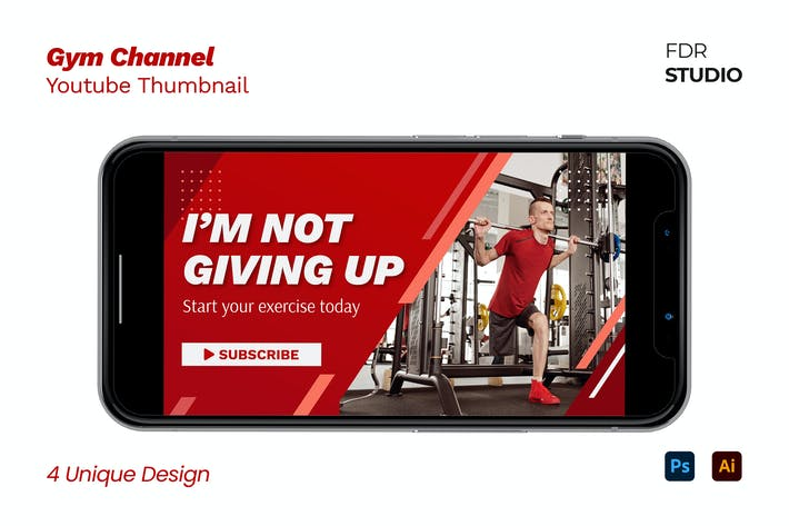 Gym Channel Youtube Thumbnail