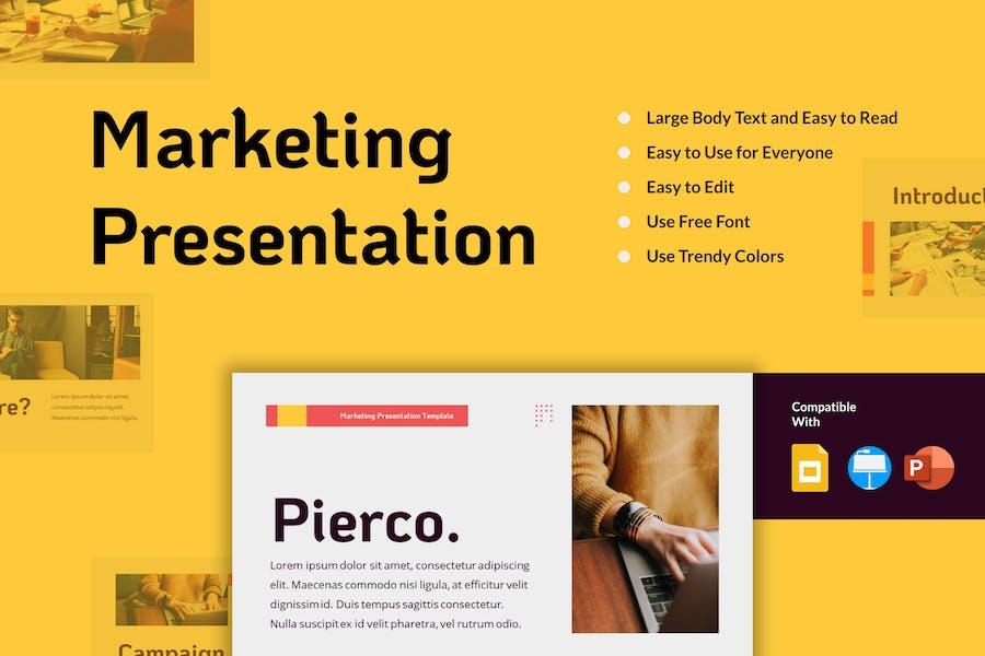 PIERCO - Шаблон маркетинговой презентации