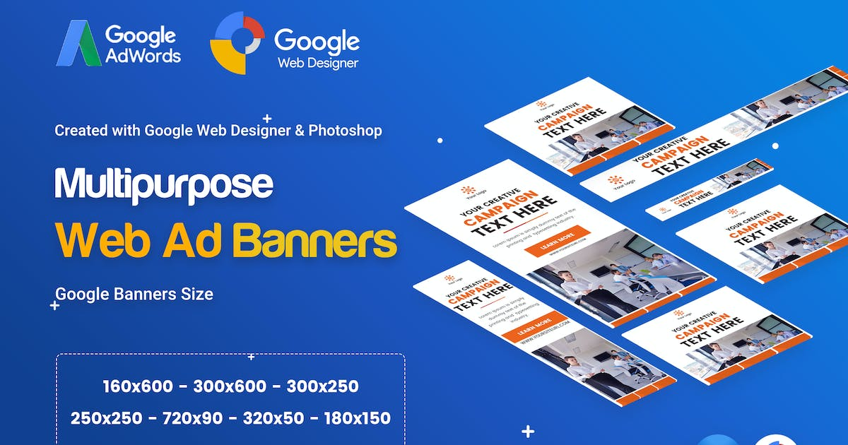 Download Multi Purpose, Business Banner Ad - GWD & PSD by iDoodle