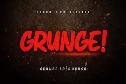¡ Grunge! Tipo de letra de pincel en negrita