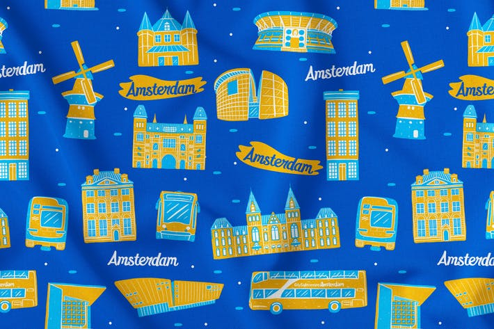 Thumbnail for Amsterdam Seamless Pattern
