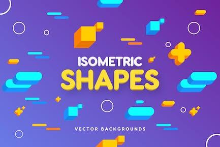 Isometrische Geo Shapes Hintergründe