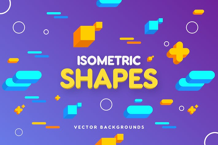 Thumbnail for Isometric Geo Shapes Backgrounds