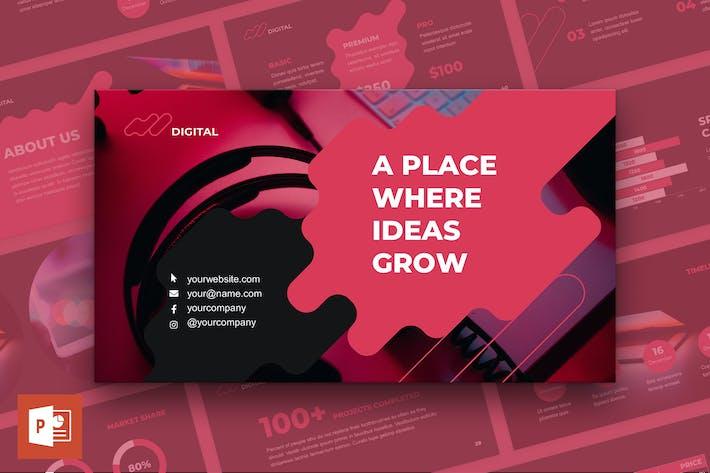 Thumbnail for Presentación de PowerPoint de la Agencia de Publicidad Digital