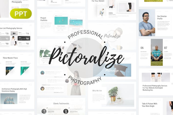 Thumbnail for Pictoralize Photography PowerPoint Template