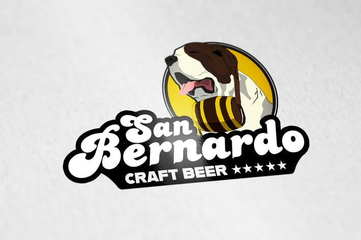 Thumbnail for San Bernardo Craft Beer Logo Template