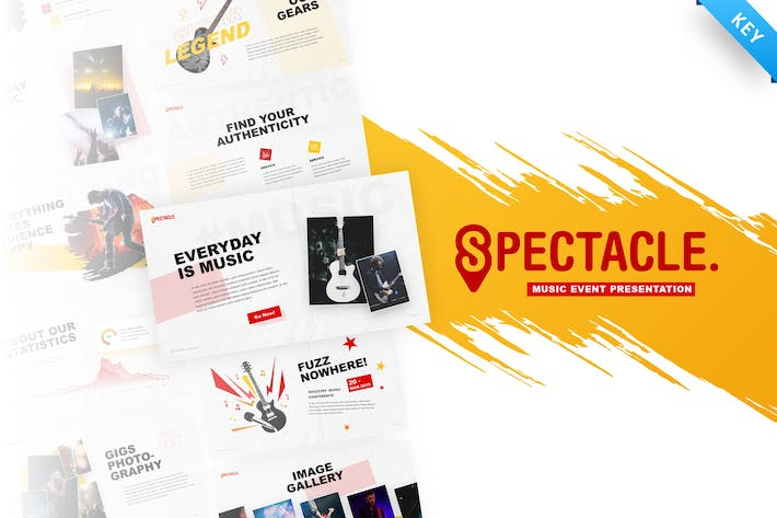 Thumbnail for Spectacle - Music Event Keynote Template