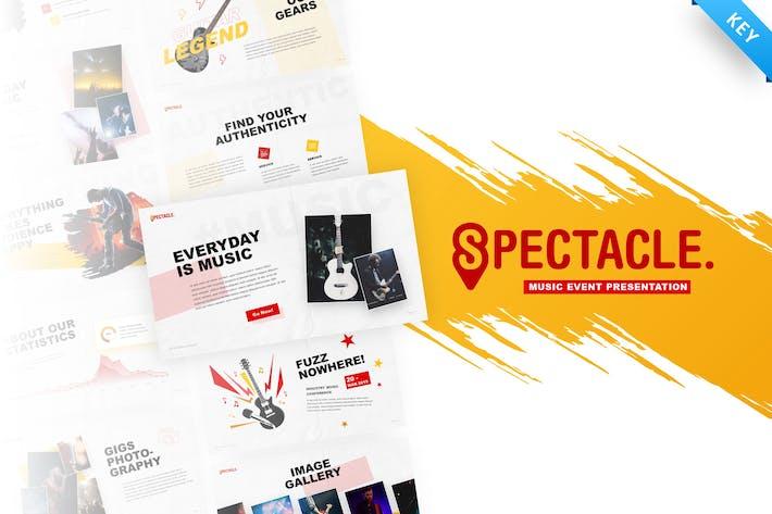 Thumbnail for Spectacle - Шаблон Keynote музыкального события