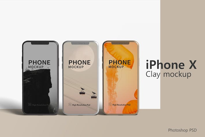 Thumbnail for iPhone X Clay Mockup