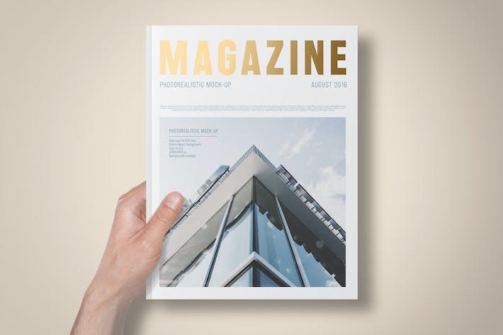 Cover Image For US Letter Foil Stamping Magazine Mock-Up