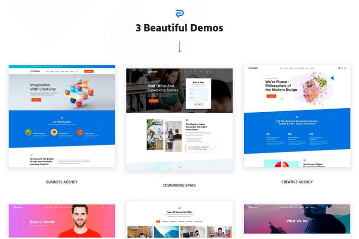 Picozo - Coworking und Portfolio-WordPress-Theme