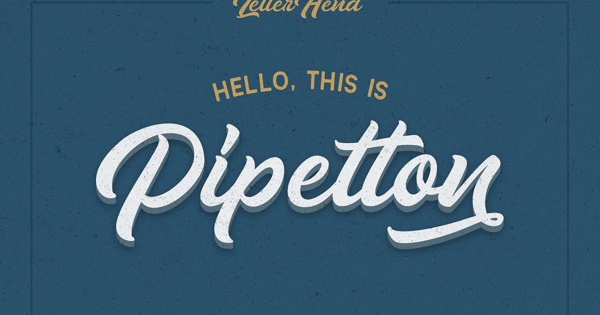 Download Pipetton Font Duo by letterhend