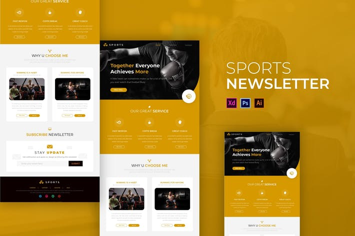 Thumbnail for Sport | Newsletter Template