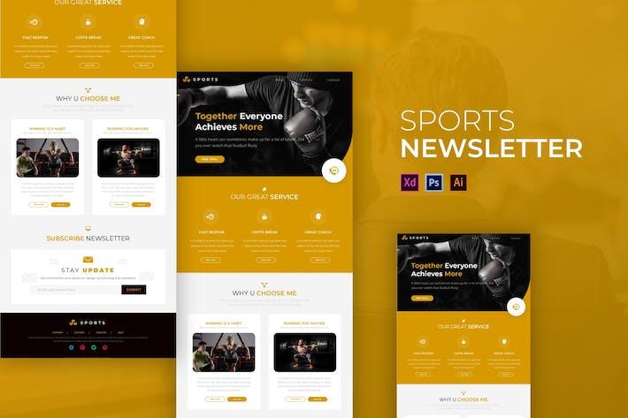 Thumbnail for Sport | Newsletter Template