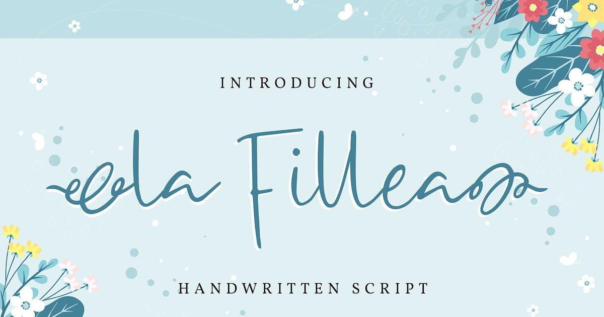 Download La Fillea | Handwritten Script Font by Vunira