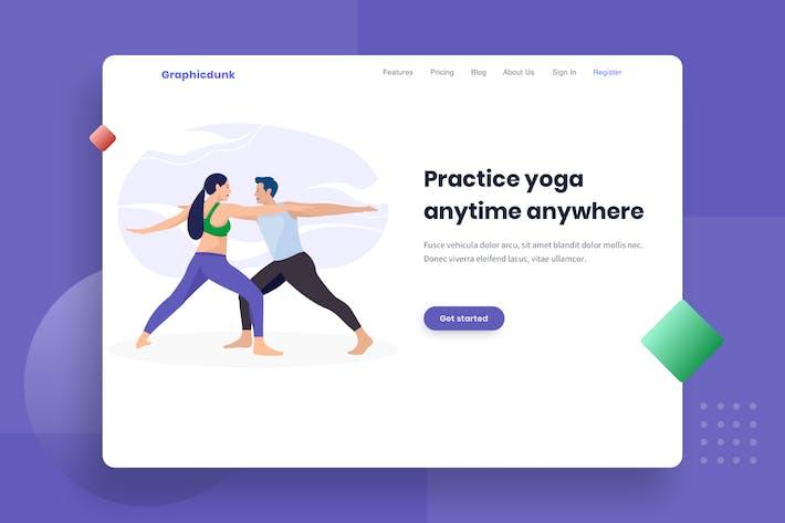 Thumbnail for Healthy Couple do Yoga Illustration