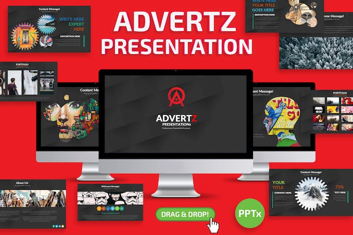 Cover Image For Advertz Powerpoint Template