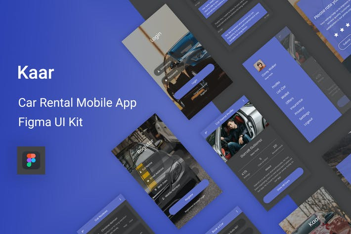 Thumbnail for Kaar - Car Rental Figma UI Kit