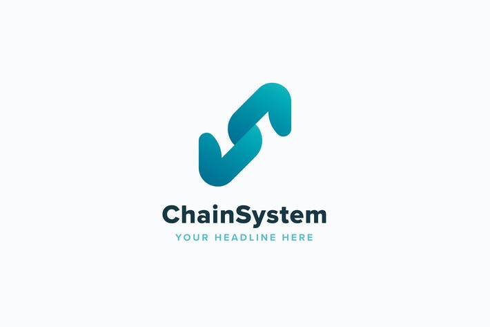 Thumbnail for Chain System Logo Template