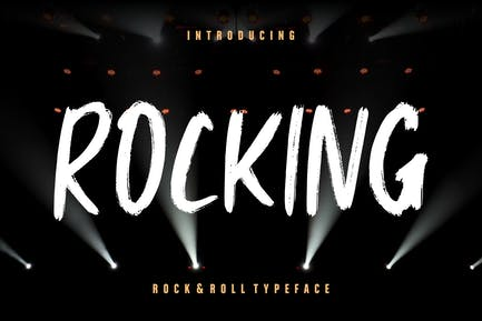 Rocking Rock & Roll Advertisement Font