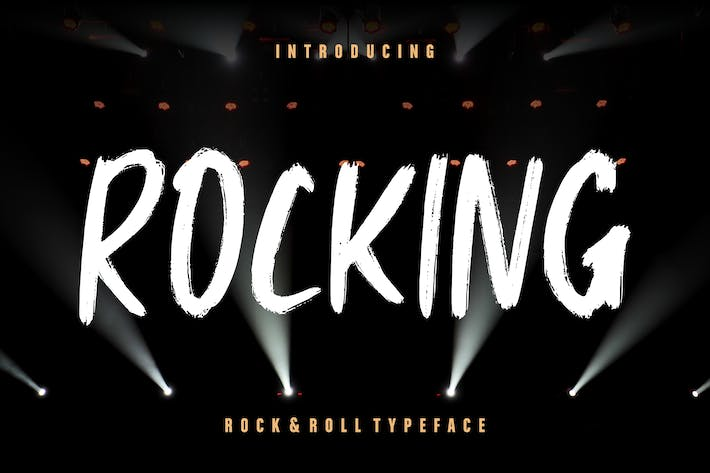 Thumbnail for Rocking Rock & Roll Typeface