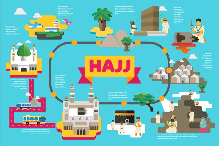 Thumbnail for Hajj infographic series. Vector illustration
