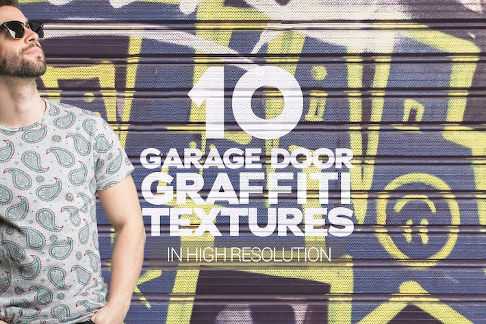 Thumbnail for Garage Door Graffiti Textures x10